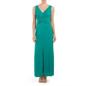 BCBGMaxAzria Green Wrap Dress